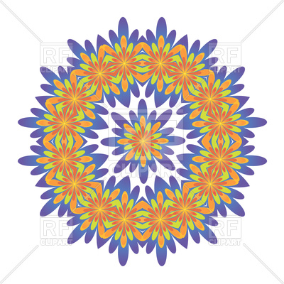 400x400 Ornamental Round Floral Pattern Royalty Free Vector Clip Art Image