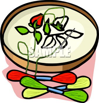 337x350 Royalty Free Clip Art Image Floral Pattern On An Embroidery Hoop
