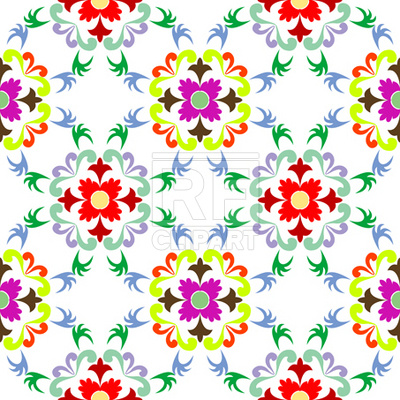 400x400 Seamless Floral Pattern Royalty Free Vector Clip Art Image