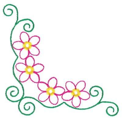 400x386 Simple Clipart Floral Design