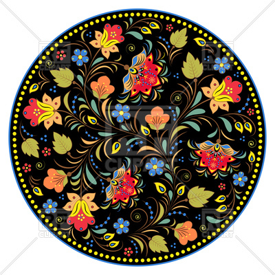 400x400 Traditional Floral Russian Pattern