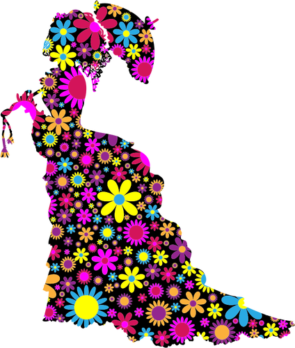 424x500 3878 Free Floral Pattern Clipart Public Domain Vectors