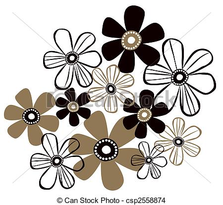 450x414 A Beautiful Drawing Of Simple Flower Patterns Drawing