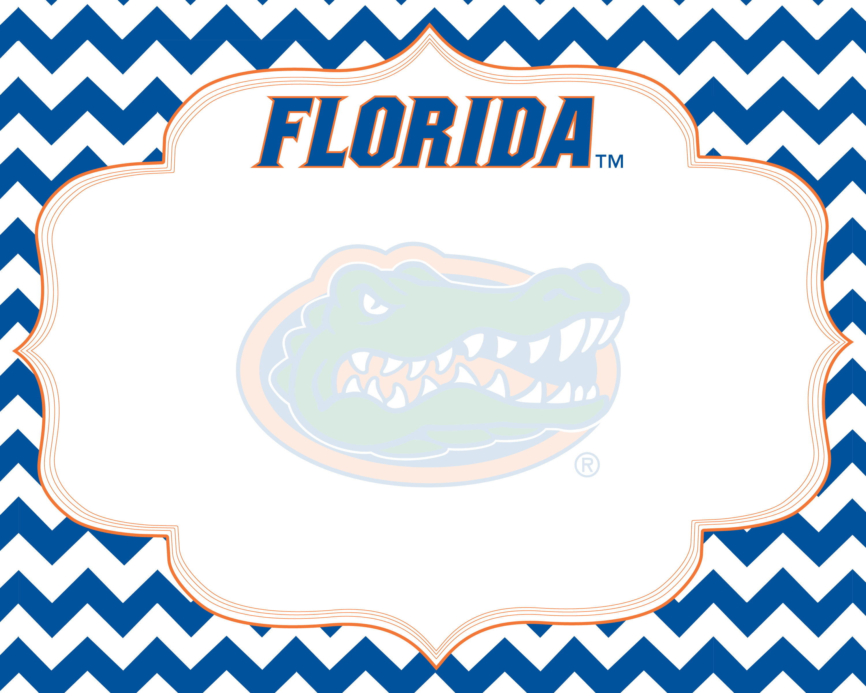 3000x2400 Florida Gators X Chevron Dry Erase Board R And R Imports