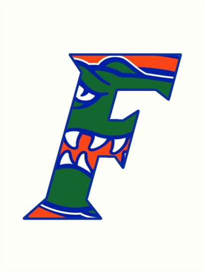 413x549 Florida Gators Head F Logo Art Prints By Allyybahngg Redbubble