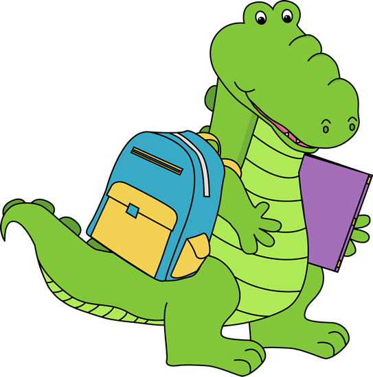 543x550 Alligator Going To School Alligators Alligators