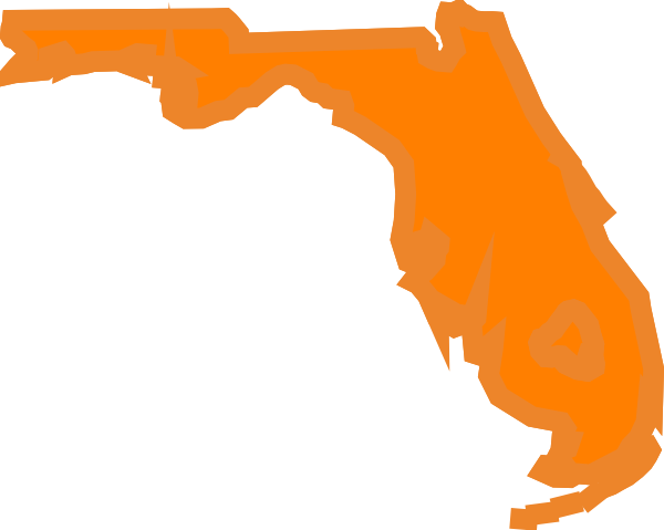 600x479 Florida State Outline Clip Art