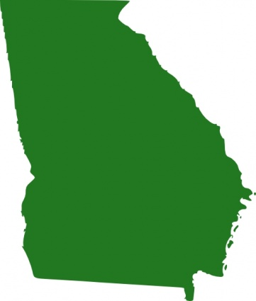 361x425 Free Download Of State Of Georgia Map Clip Art Vector Graphic