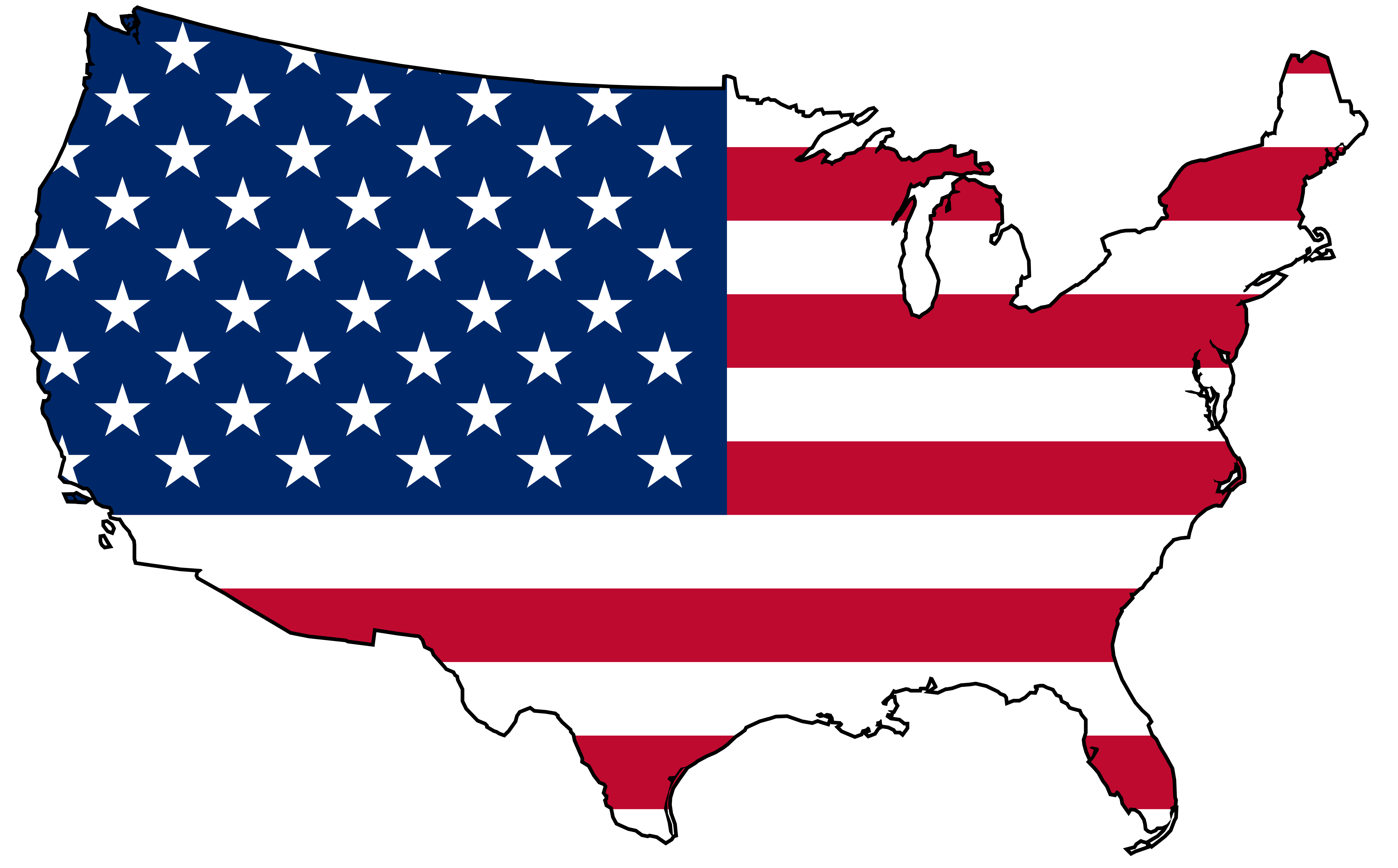 4444x2760 Top 75 United States Clip Art