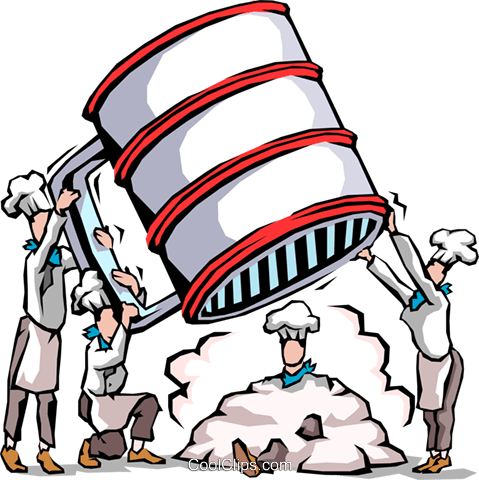 479x480 Chefs Sifting Flour Royalty Free Vector Clip Art Illustration