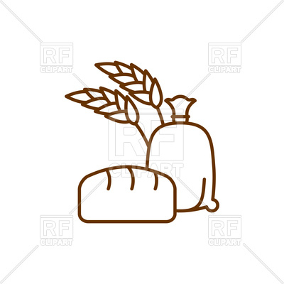 400x400 Flour Bag Simple Icon Royalty Free Vector Clip Art Image
