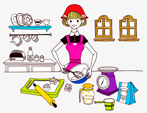 500x383 Girls Fell Flour, Kitchen, Small Scale, Flour Png Image