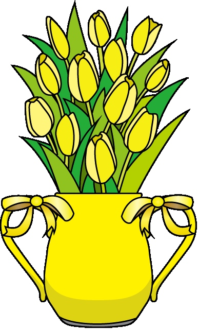 386x639 Free Clip Art Of Flower Arrangements