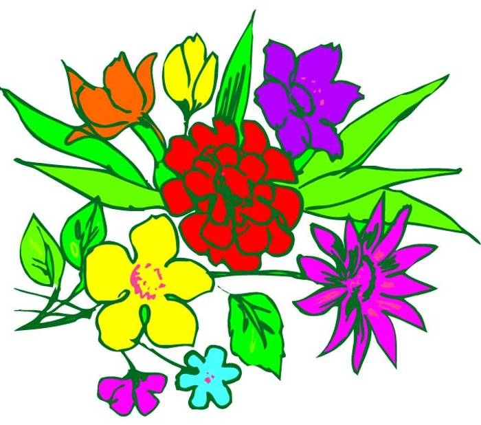 700x618 Free Clip Art Of Flower Bouquet