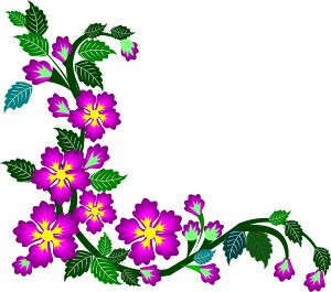 300x265 Flower Border Designs Clip Art Clipart