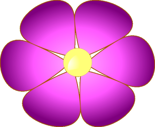 600x492 Violet Flower Clipart Violet Flower Clip Art At Clker Vector Clip
