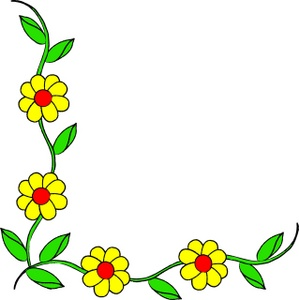 299x300 Yellow Flowers Clip Art Border