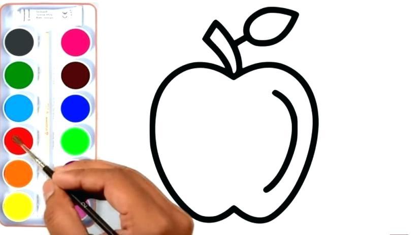 825x463 Barrel Apple Fruit Coloring Pages Livingtowin.club