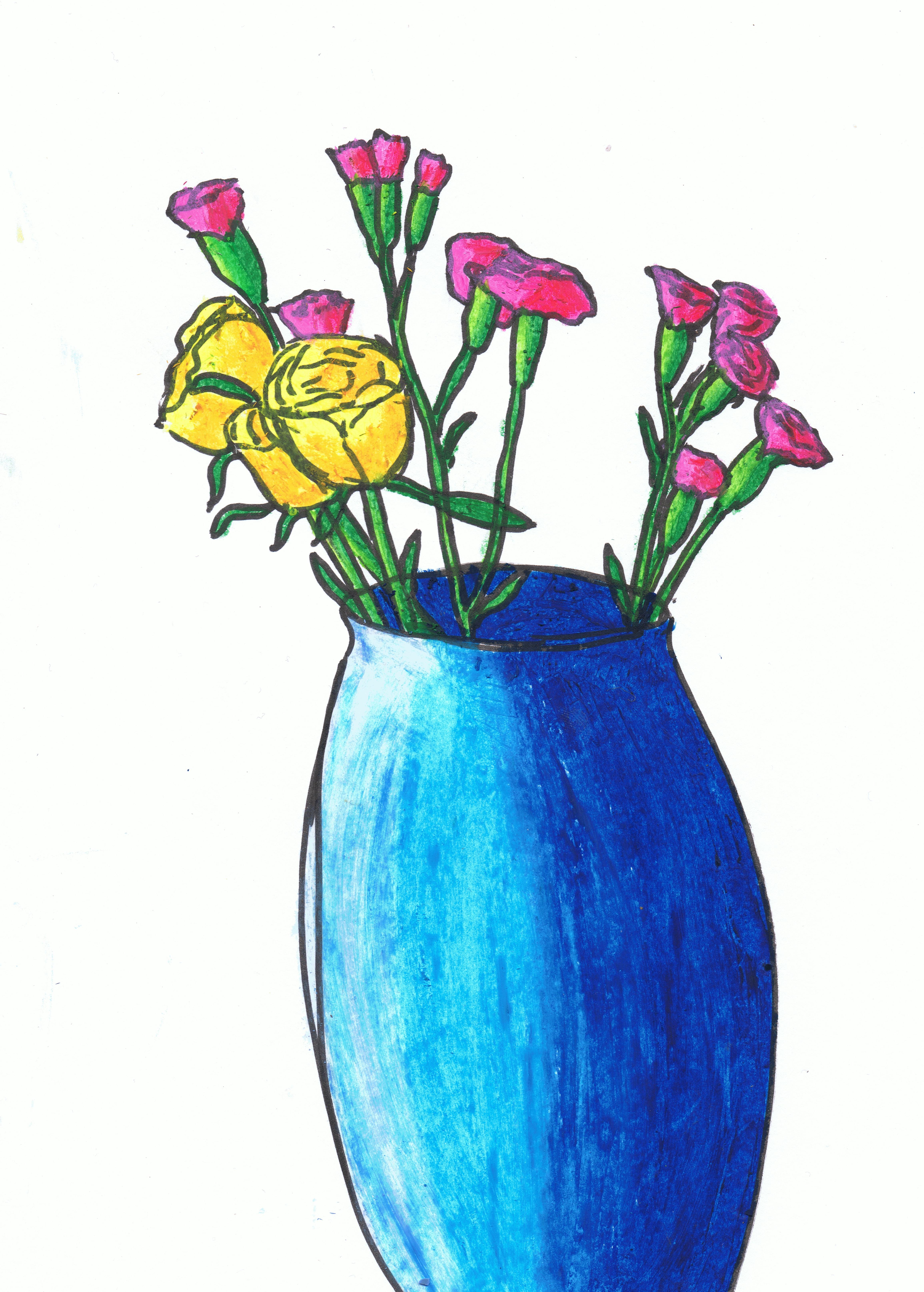 4621x6460 50 New Flower Vase Drawing