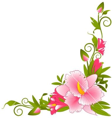 380x400 Flower Garden Border Clip Art Elegant Flowers And Grass Png