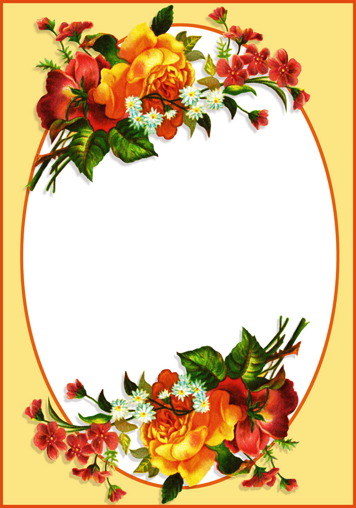 700x1000 Flower Borders And Frames
