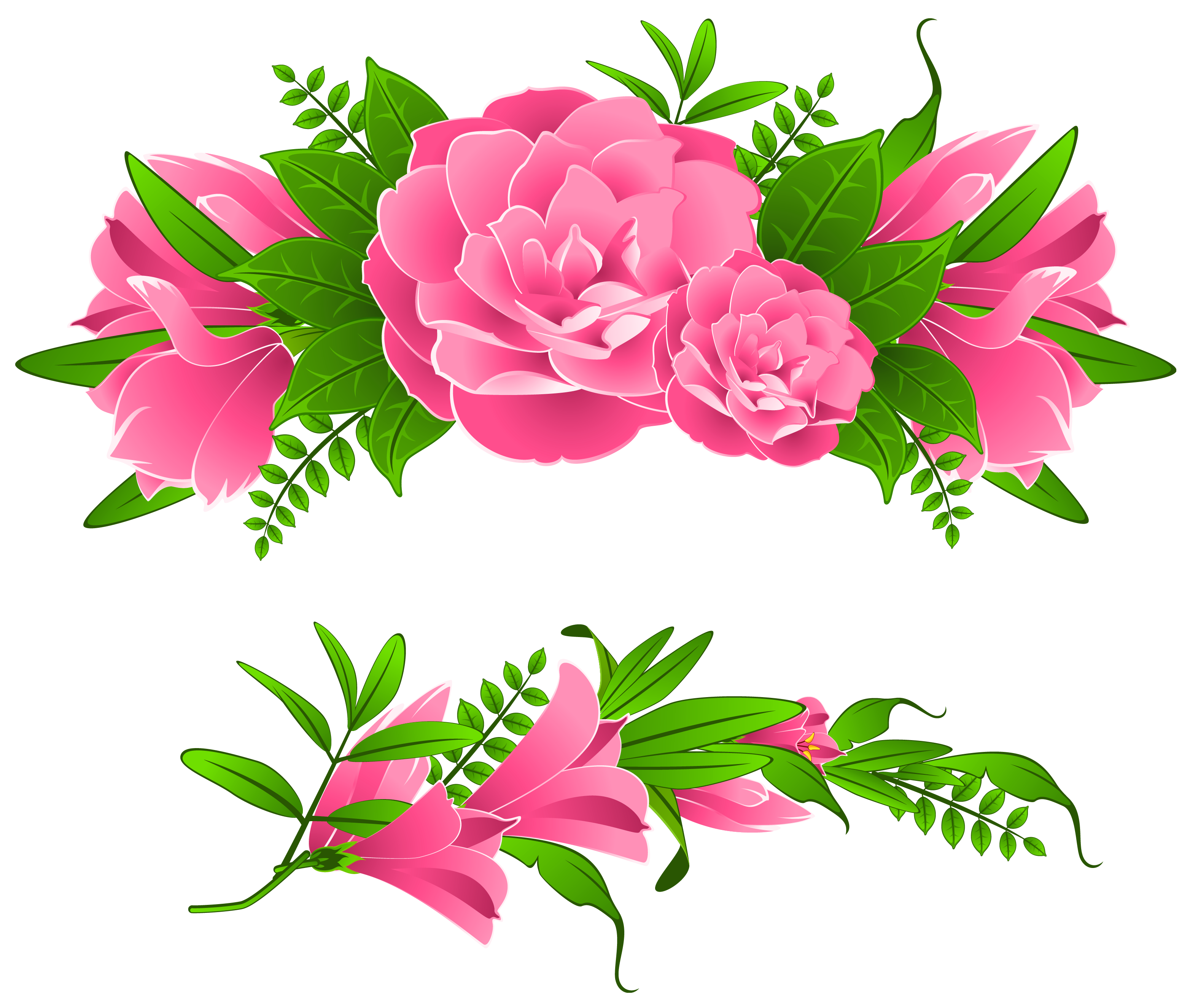 3128x2649 Flowers Clip Art Border Png