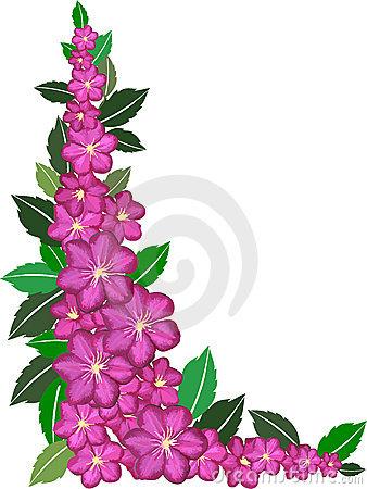 338x450 Purple Flowers Clip Art Border Clipart Panda