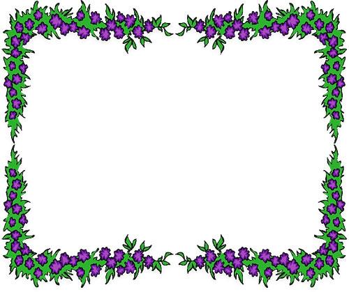 500x419 Purple Flowers Clip Art Border Free Flower Borders Flower Border