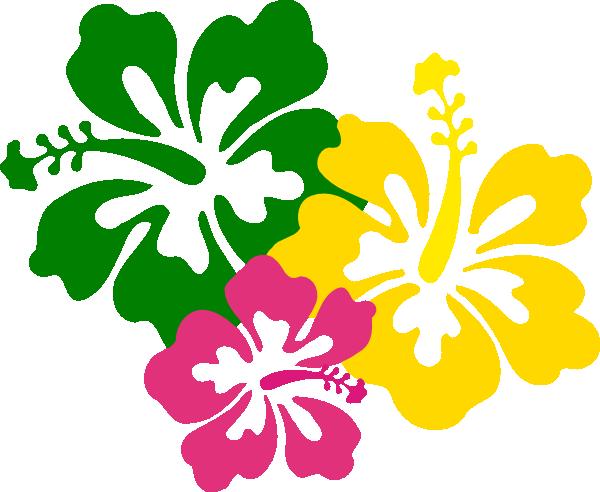 600x492 Cartoon Hawaiian Flower Free Download Clip Art