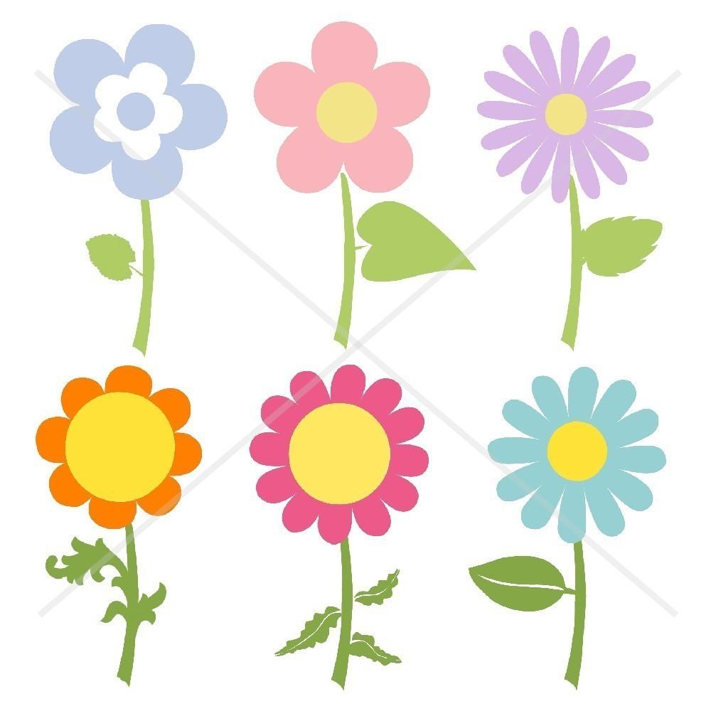 1000x1000 Clip Art Of Flower Garden Border
