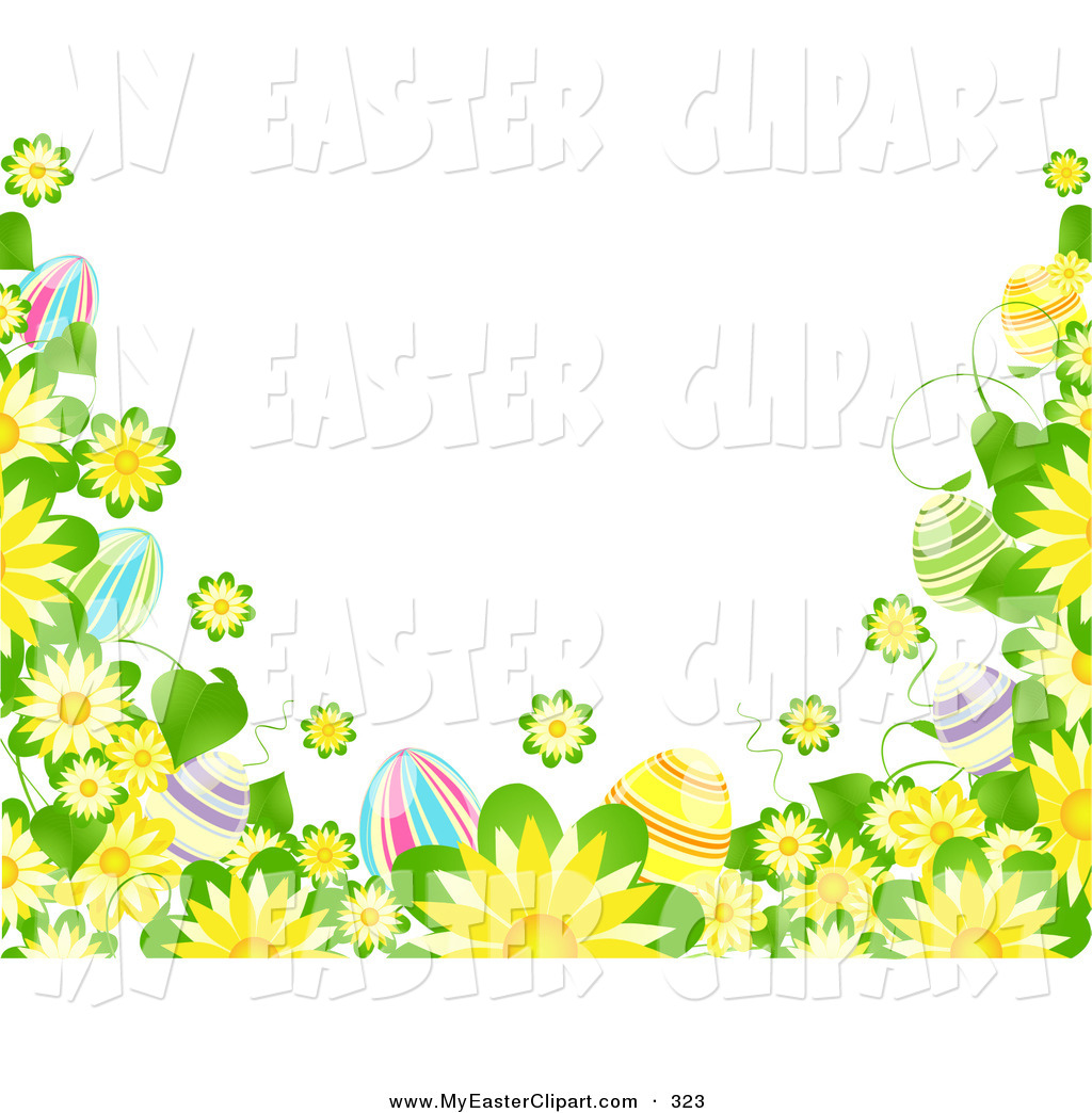 1024x1044 Easter Flowers Borders Clip Art Happy Easter 2018