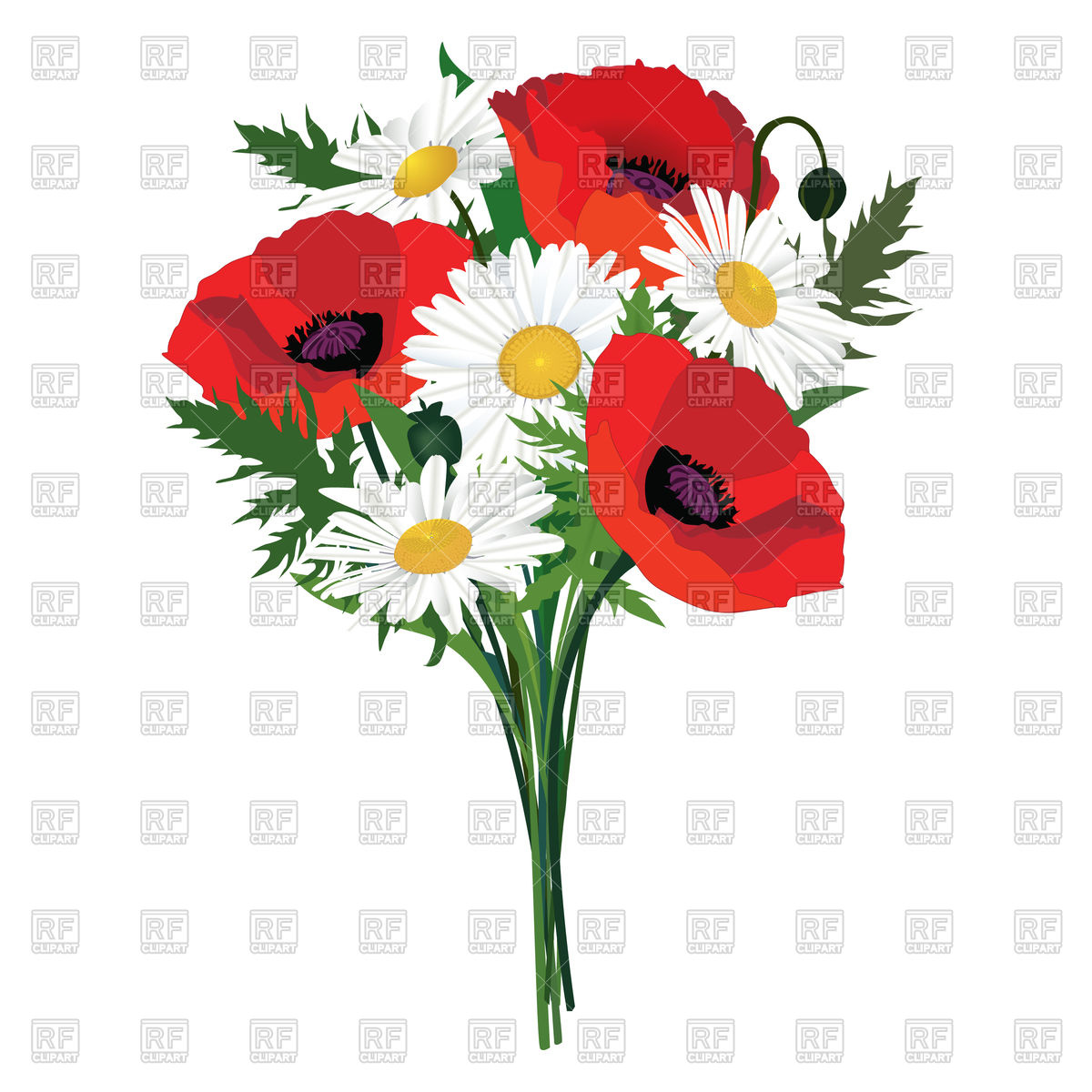 1200x1200 Flower Bouquet Royalty Free Vector Clip Art Image