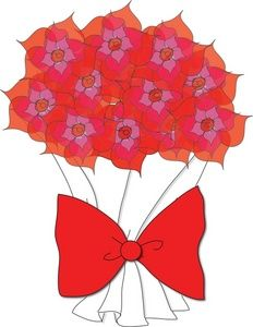 232x300 Flowers Clipart Image Clip Art Illustration Of A Bouquet Of Red