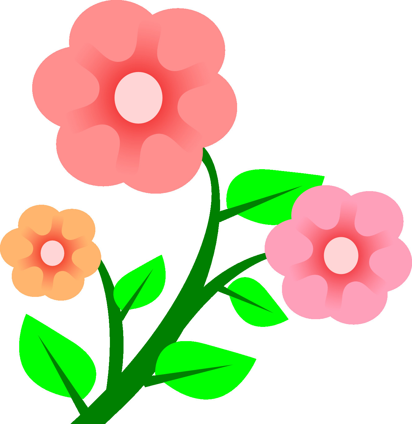 1331x1371 Free Spring Flower Bouquet Clipart
