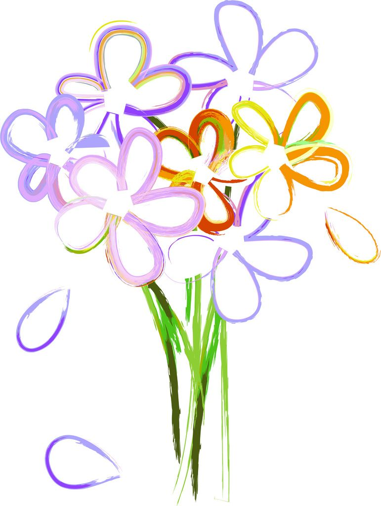 771x1024 Trends For Gt Spring Flowers Bouquet Clipart