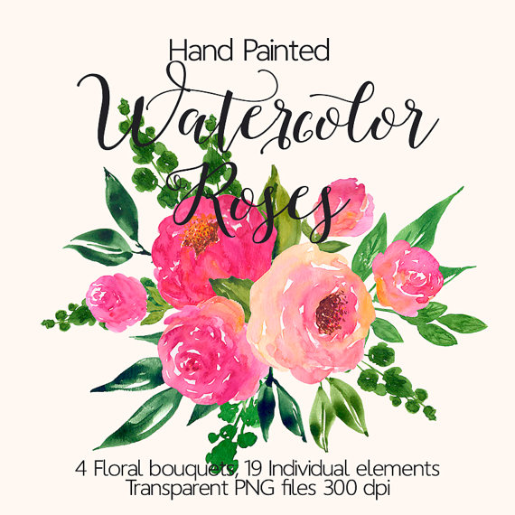 570x570 Watercolour Flower Clip Art