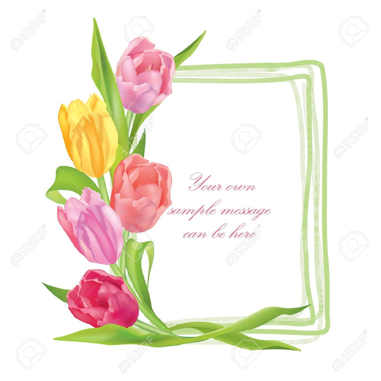 1300x1300 Flower Borders And Frames Clip Art Oval With Flower Bouquet 2