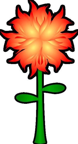 324x598 Fire Flower Clip Art Free Vector 4vector