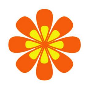 300x300 Orange Flowers Clip Art