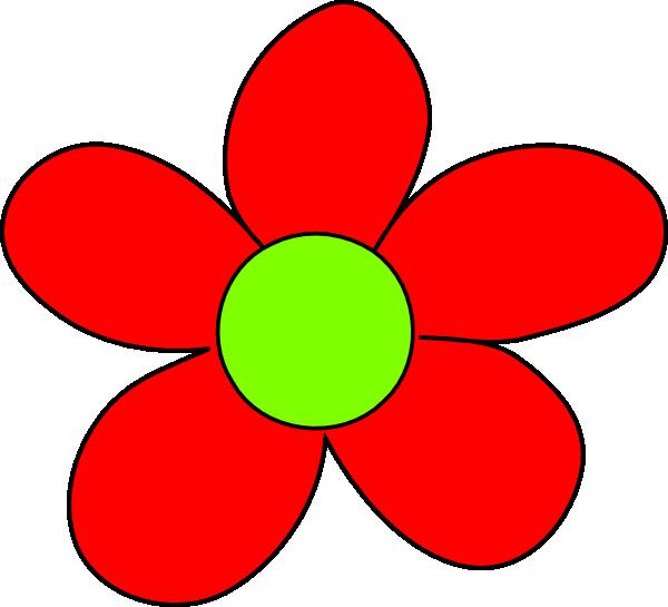 600x545 Red Flower Clip Art