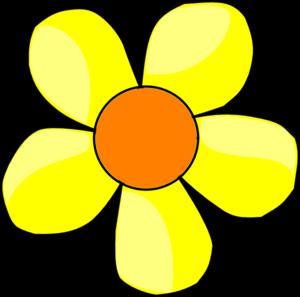 300x297 Yellow Flower Clip Art