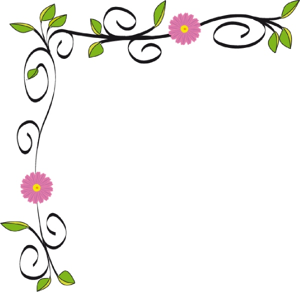 600x585 Flower Garden Clipart Border Beautiful Floral Clip Art