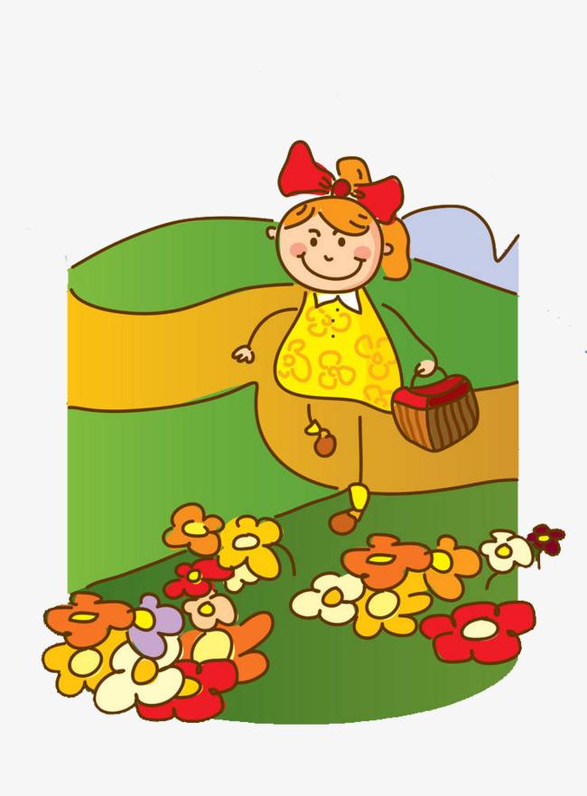 650x881 Draw Illustrations Of Flowers Girl, Pluck Flowers, Flower, Pick