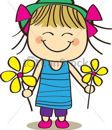 367x425 Clipart Girl With Flowers Cute Little Girl Holding Flower Clip Art