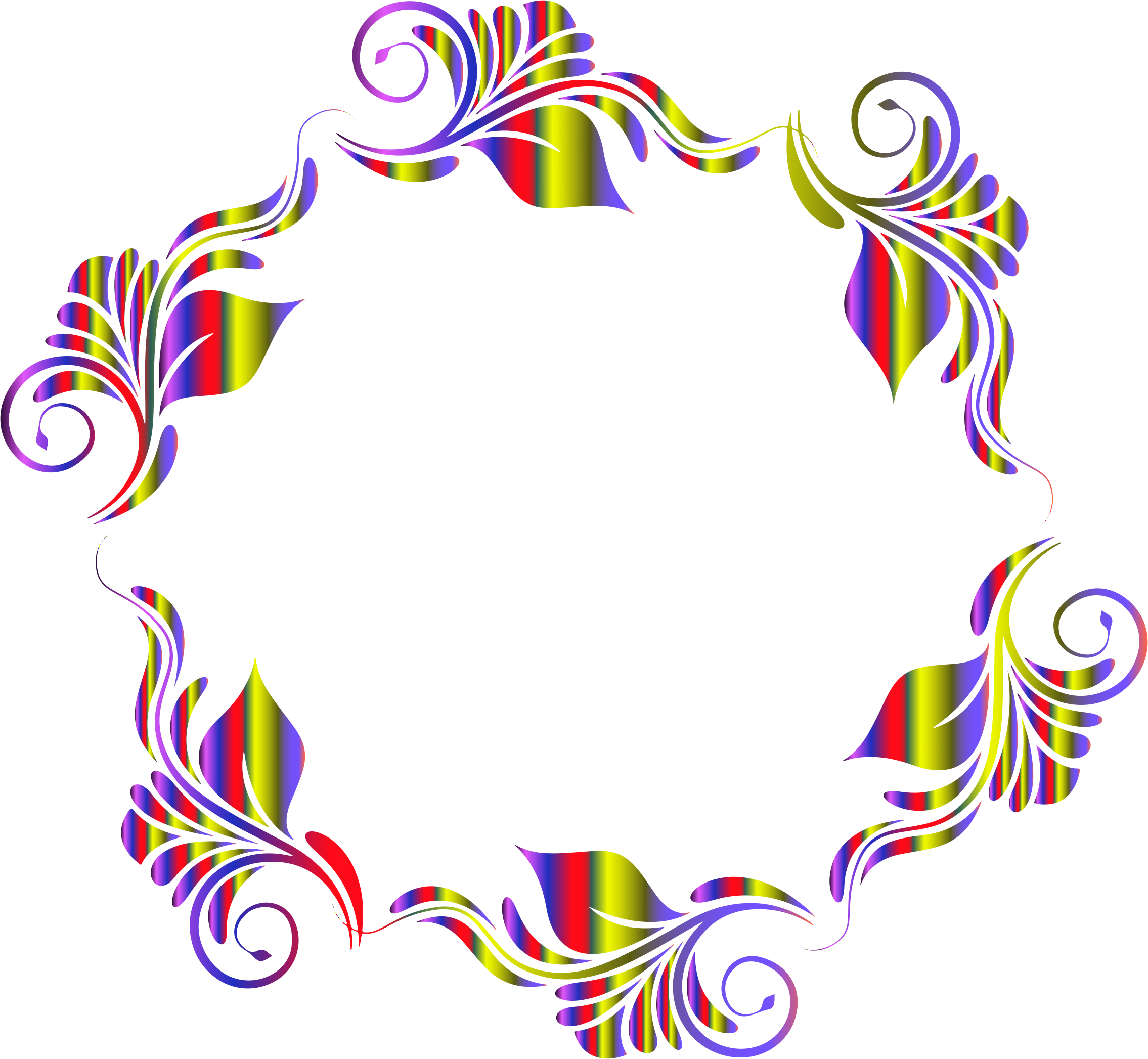 2270x2094 Colorful Flowers Pattern In A Circle Icons Png
