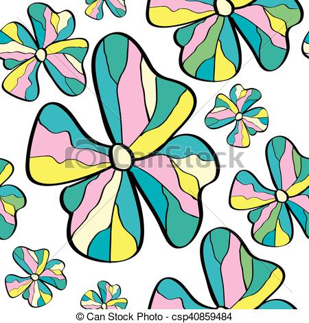 450x470 Flower Stained Glass Seamless Pattern. Colorful Flower Vector