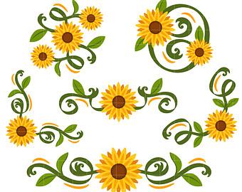 340x270 Sunflower Free Sunflower Border Cliparts Free Download Clip Art