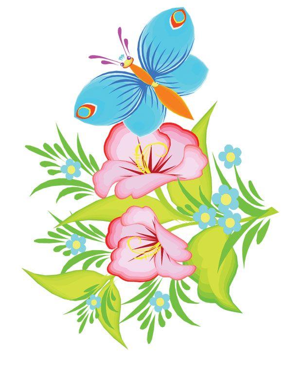 584x750 Clipart 147.jpg Kwiaty Ilustracje Flower