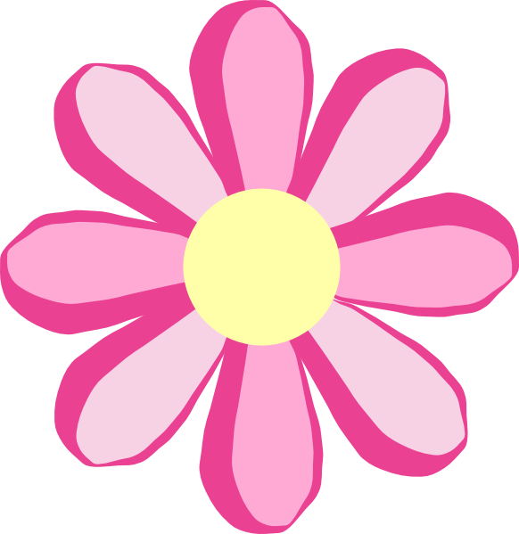 582x599 Petal Clipart Cute Flower Pencil And In Color Clip Art Pink