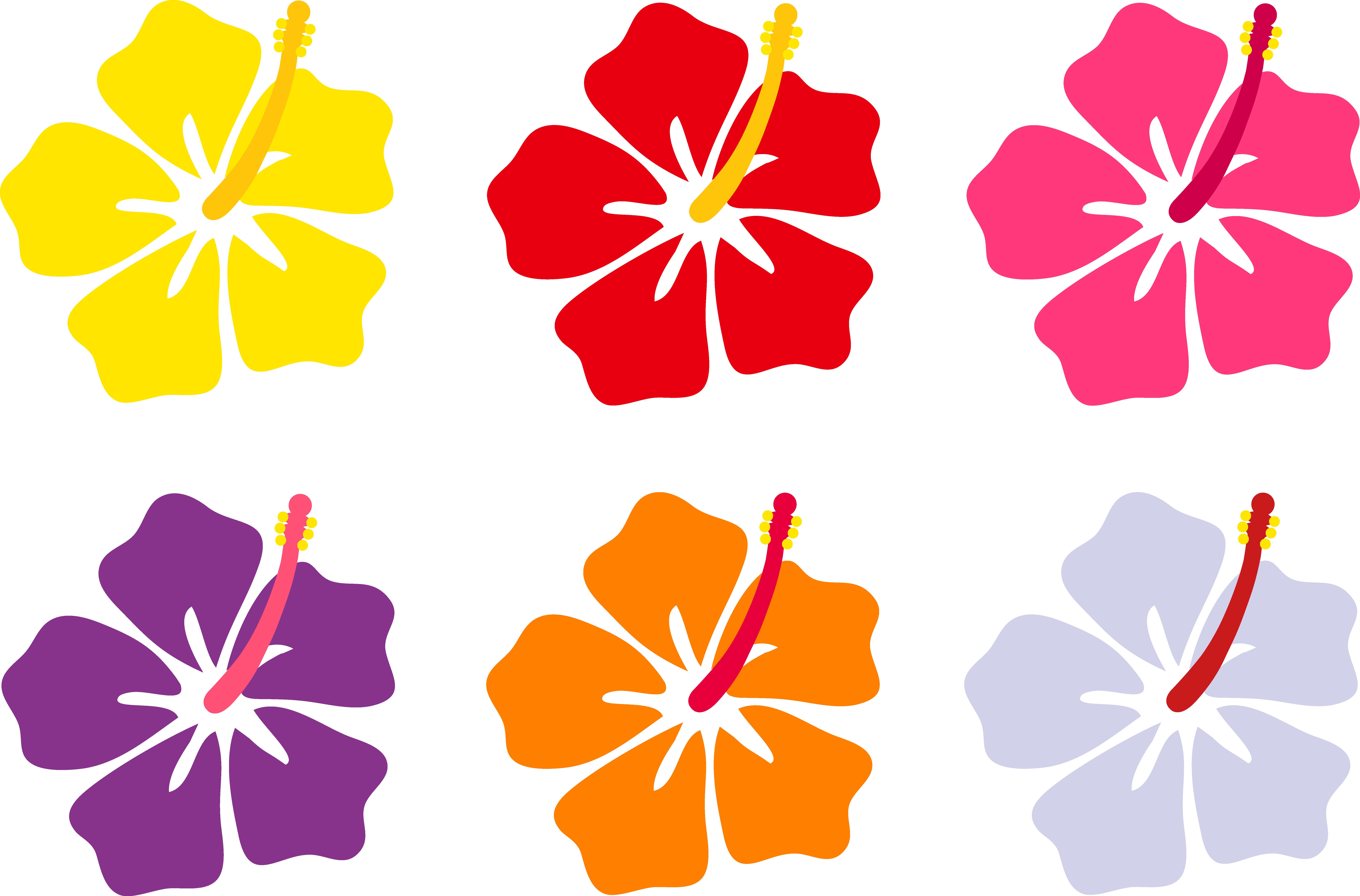 8230x5425 Red Flower Clipart Six Petal